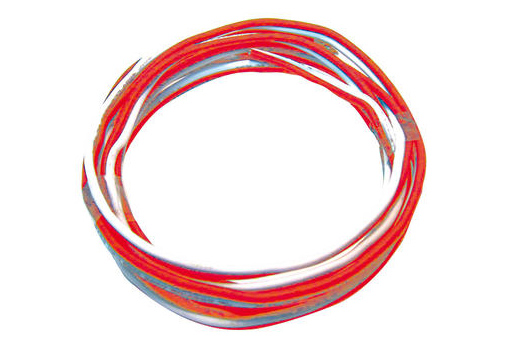 Kabel orange/weiß, 25m