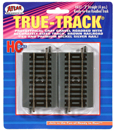 "Straight Track 3"" Pack (4)"