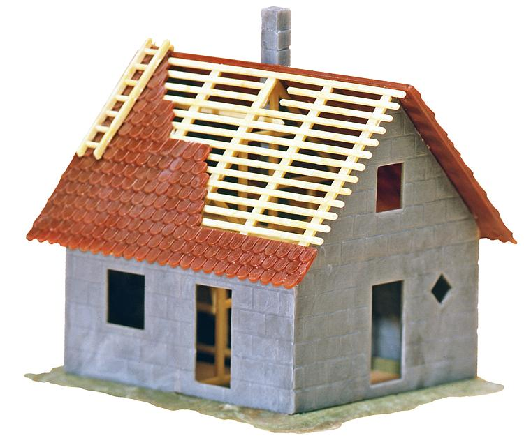 Kleines Haus im Bau