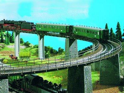 Trogbrücke, gebogen
