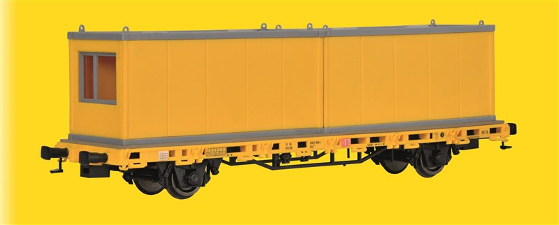 Niederbordwagen mit Containern