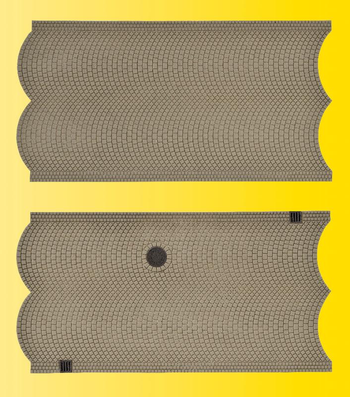 Straßenplatte Kopfsteinpflaster (3 Stück)