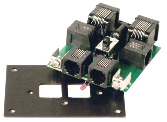 UTP-CAT5 Panel, cab bus w/RJ45 plugs