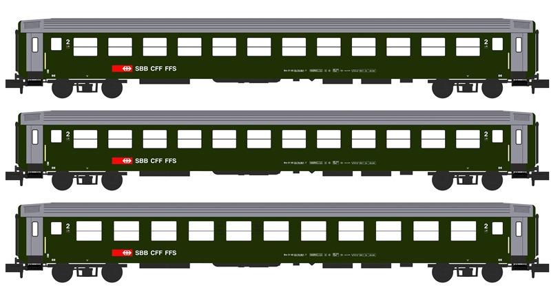 Abteilwagen-Set 3-teilig - SBB