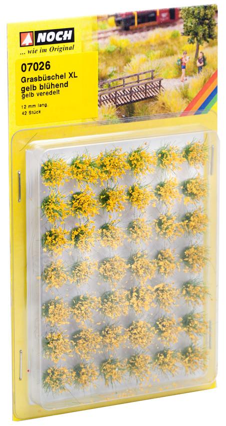 Grasbüschel XL blühend gelb (42 Stück)