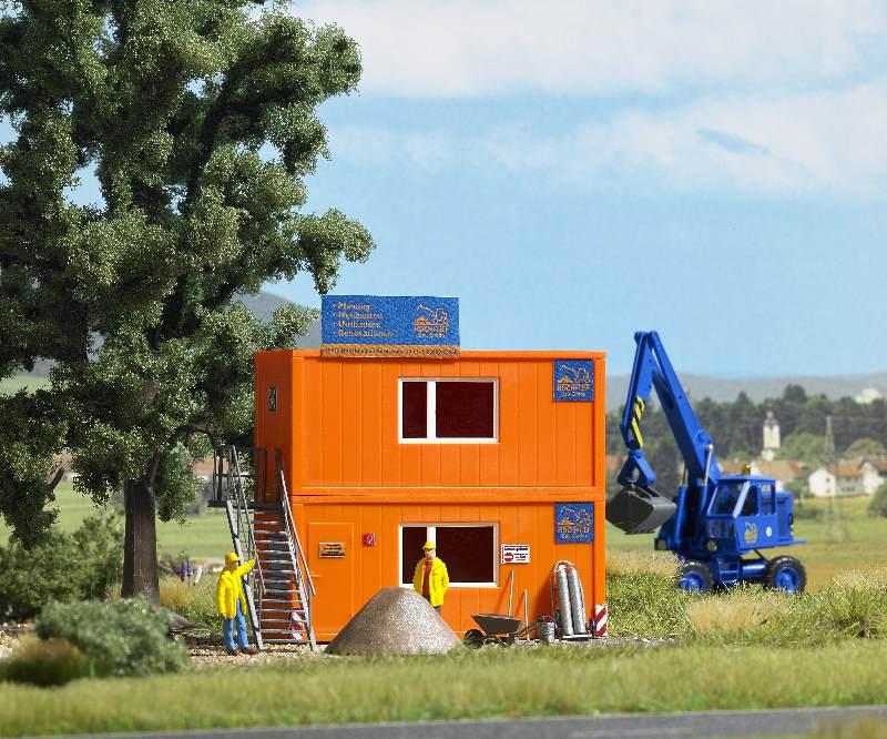 Zwei Baustellen-Container