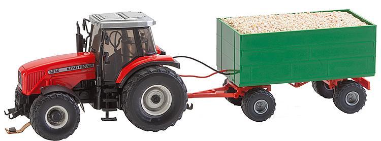 MF Traktor mit Anhänger