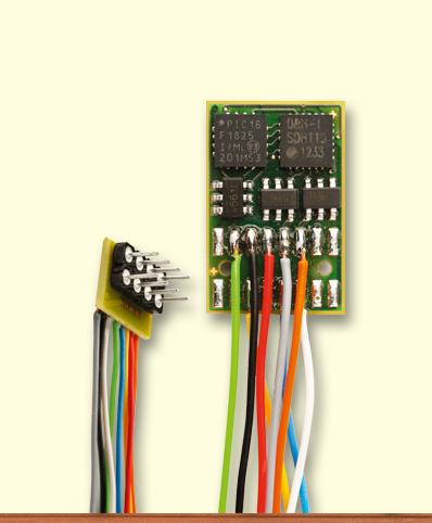 Decoder DH16A-2 mit Kabel, NEM 652
