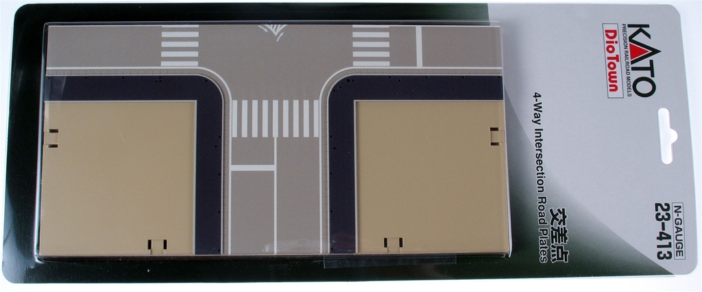 4-way Intersection Road Plate