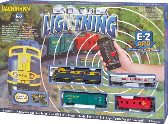 Blue Lightning Train Set - AT&SF