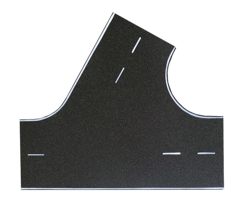 Straßenplatte Asphalt 60° Einmündung