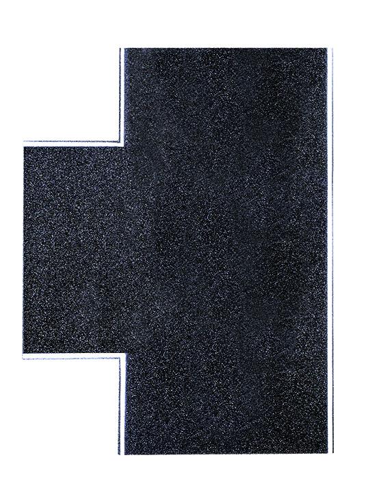 Straßenplatte Asphalt 90° Einmündung
