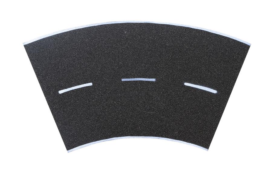 Straßenplatte Asphalt 45° Kurve
