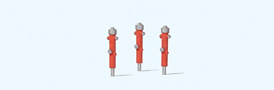 Hydranten rot, 3 Stück
