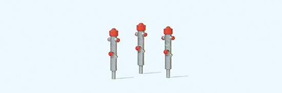 Hydranten silber, 3 Stück