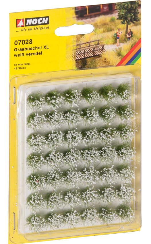Grasbüschel XL weiß veredelt (42 Stück)