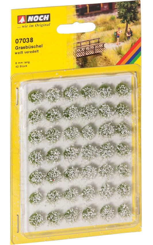 Grasbüschel weiß veredelt (42 Stück)