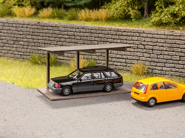 Freitragender Carport