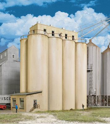 Modern Grain Head House Silos
