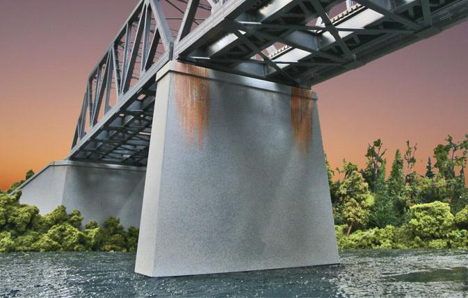 Double Track Concrete Pier (2-pack)
