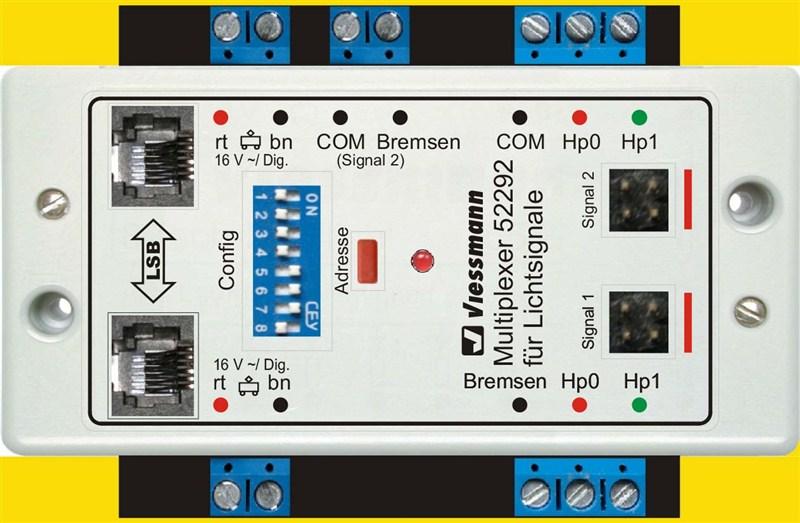 Doppel-Multiplexer für 2 Lichtsignale
