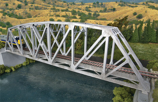 Arched Pratt Truss Bridge, single Track