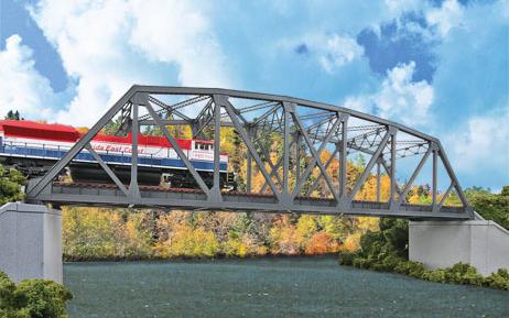 Arched Pratt Truss Bridge, double Track