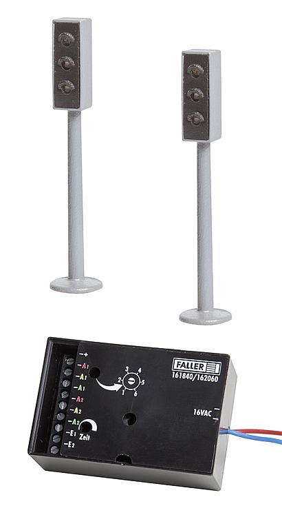 2 LED-Ampeln mit Elektronik