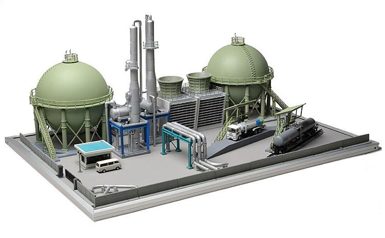 Raffinerie-Set (Bausatz)
