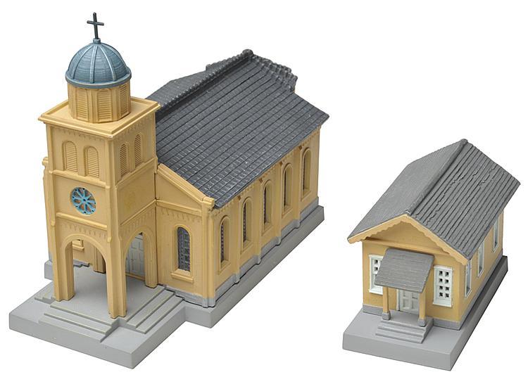 Kirche mit Nebengebäude (Bausatz)