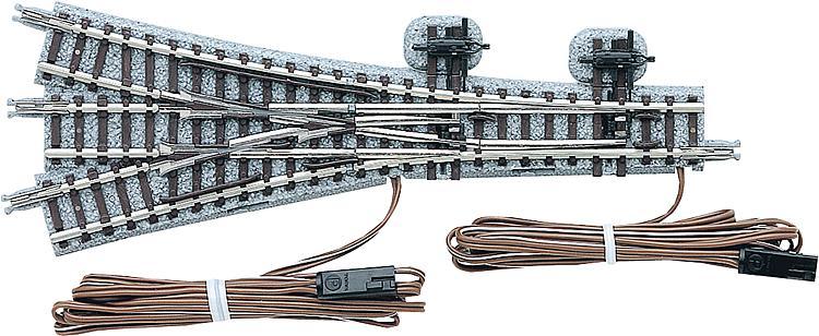 Elektrische Dreiwegeweiche rechts/links, 15°