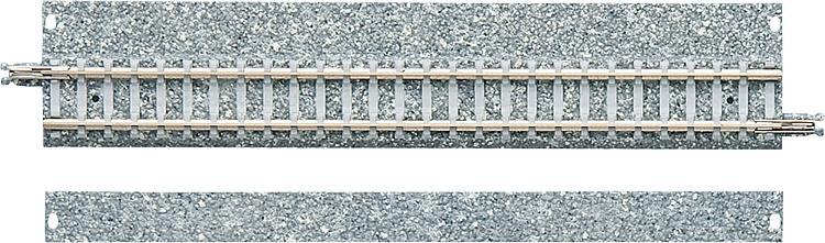 2 Gerade Gleise mit breitem Schotterbett