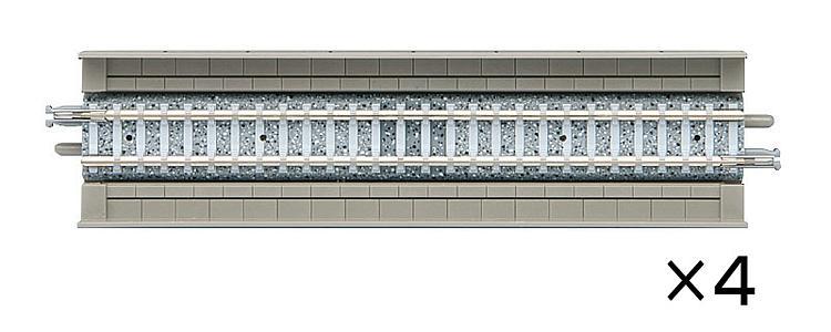 4 Gerade Gleise, Viaduktbettung