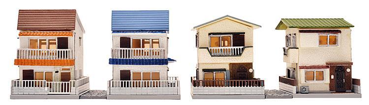 Zwei Stadtwohnhäuser (Fertigmodell)