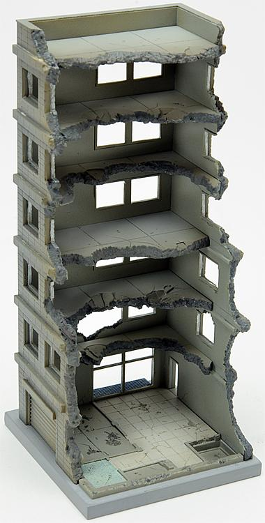 Gebäude im Abriss A (Bausatz)