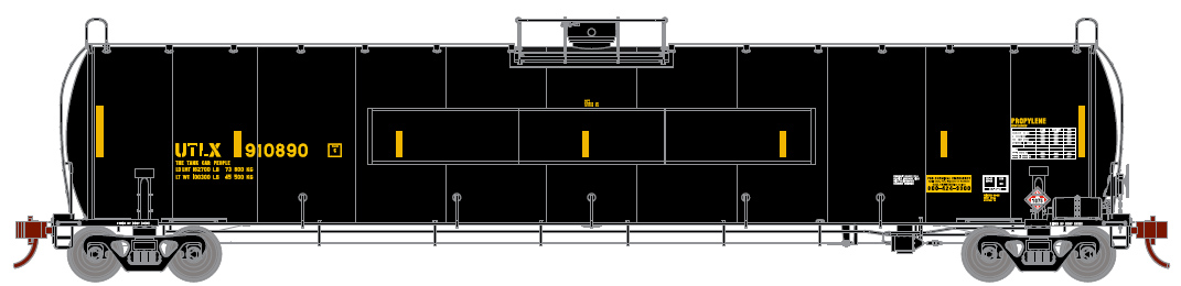 Union Tank Car (flat panel) / UTLX