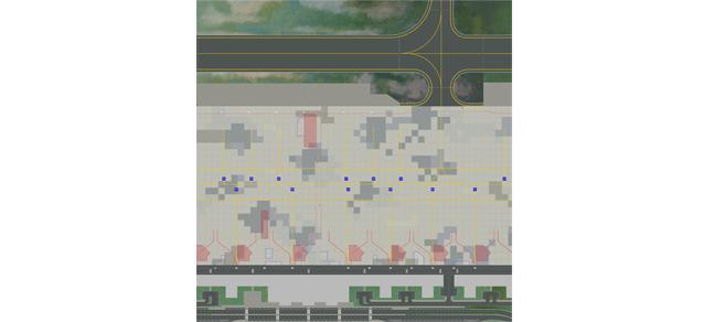 Set 1: Bodenplatten Passagier Terminal
