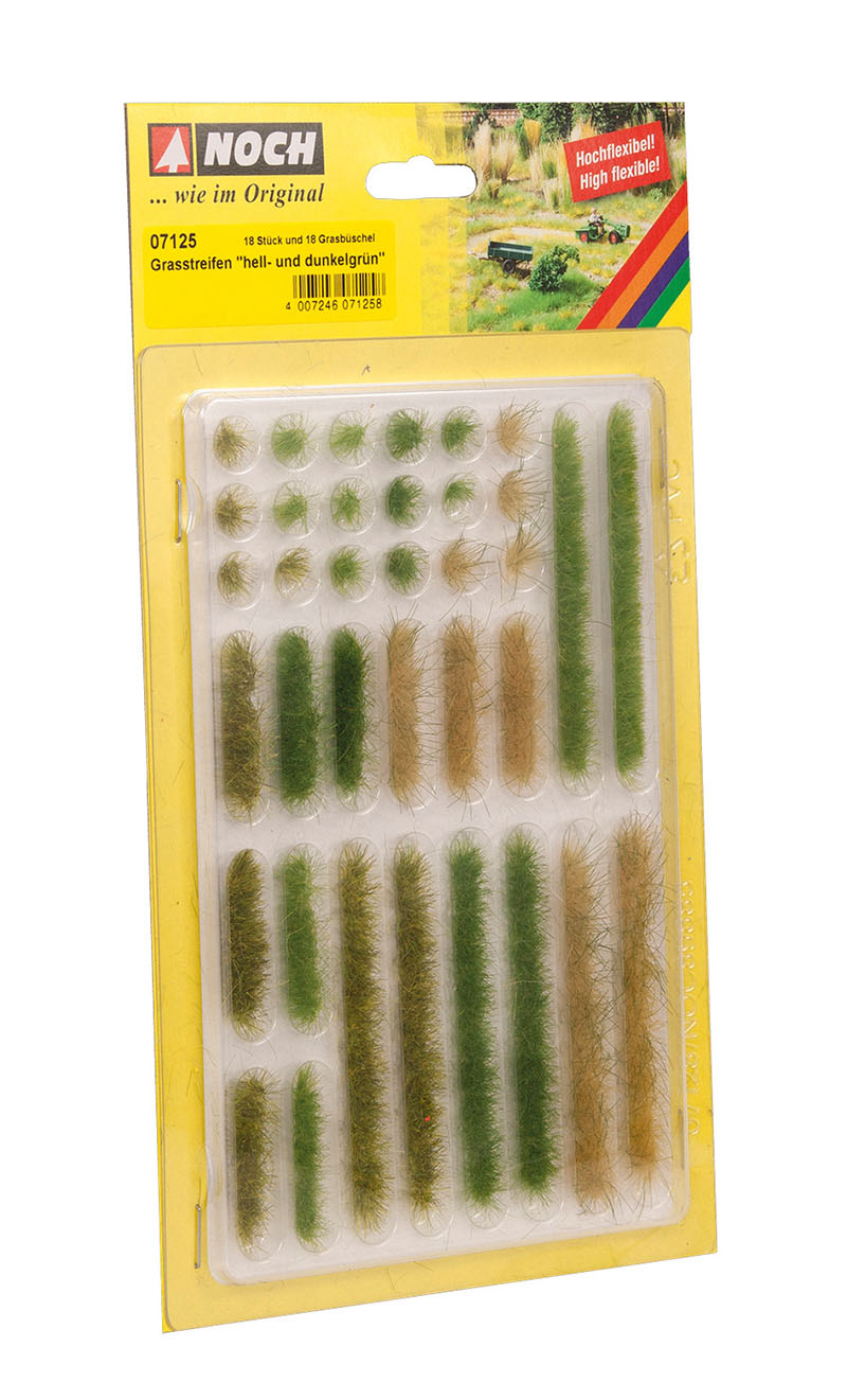 Grasstreifen hell- und dunkelgrün