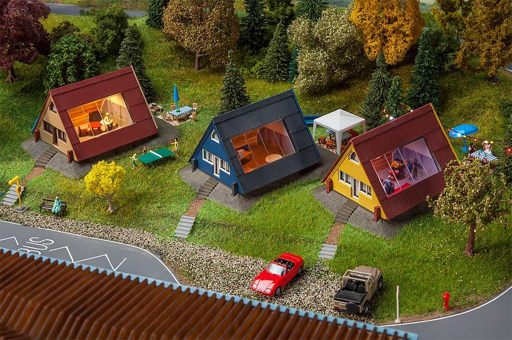 Ferienhäuser-Set (3 Stück)