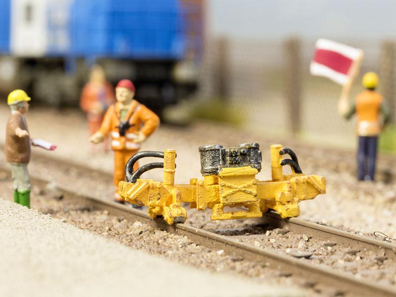 Schienen-Umsetzmaschine