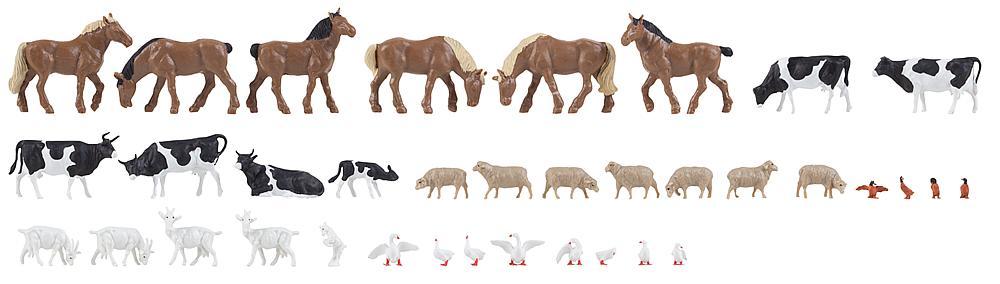 36 Tiere auf dem Bauernhof