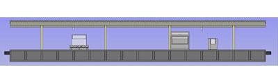 Erweiterung  Bahnsteig mit LED-Beleuchtung