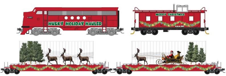 Husky Holiday Hauler Christmas Set