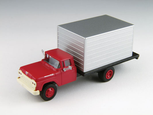red cab w/silver box