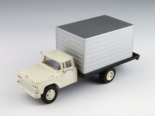 white cab w/silver box