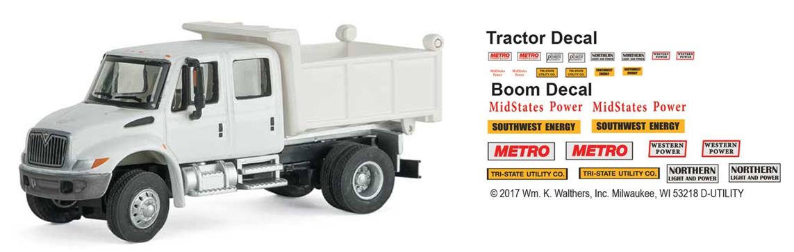 Intl. 4300 2-axle Crew Cab Dump Truck