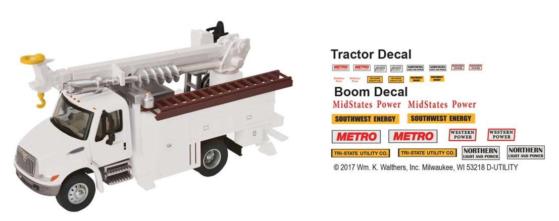 Intl. 4300 2-axle Utility Truck w/Drill