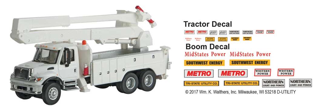 Intl. 7600 3-axle Utility Truck w/Bucket