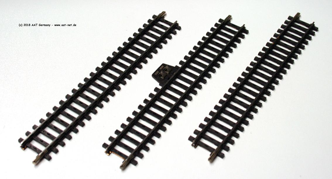 Gleise aus Deko, 1x Anschluss, 2x Gerade