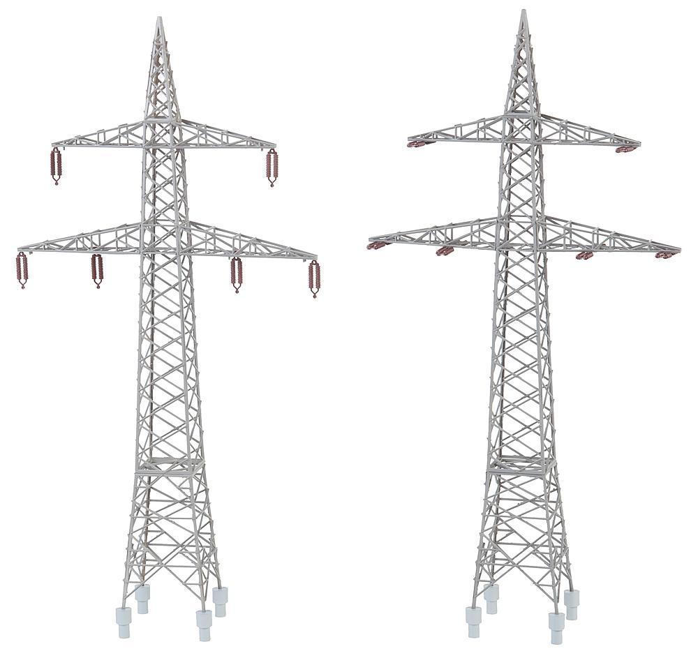 2 Freileitungsmasten (100 kV)